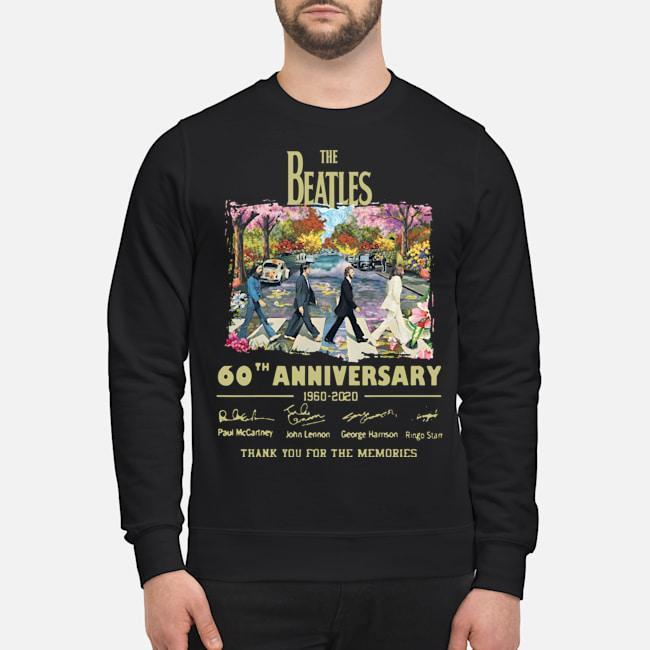 Abbey Road Under Blossom The Beatles 60 Anniversary Thank You For The Memories Sweater
