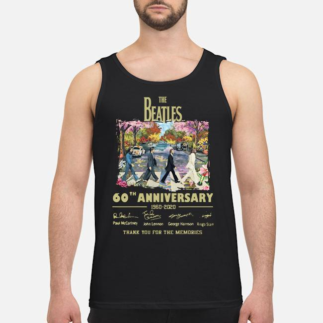 Abbey Road Under Blossom The Beatles 60 Anniversary Thank You For The Memories Tank Top