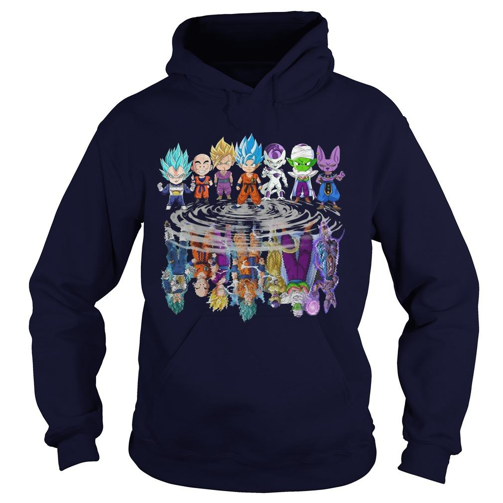 Baby Dragon Ball Z Characters Mirror Reflection Hoodie
