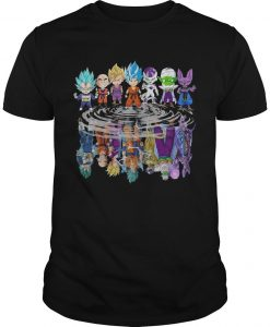 Baby Dragon Ball Z Characters Mirror Reflection Shirt