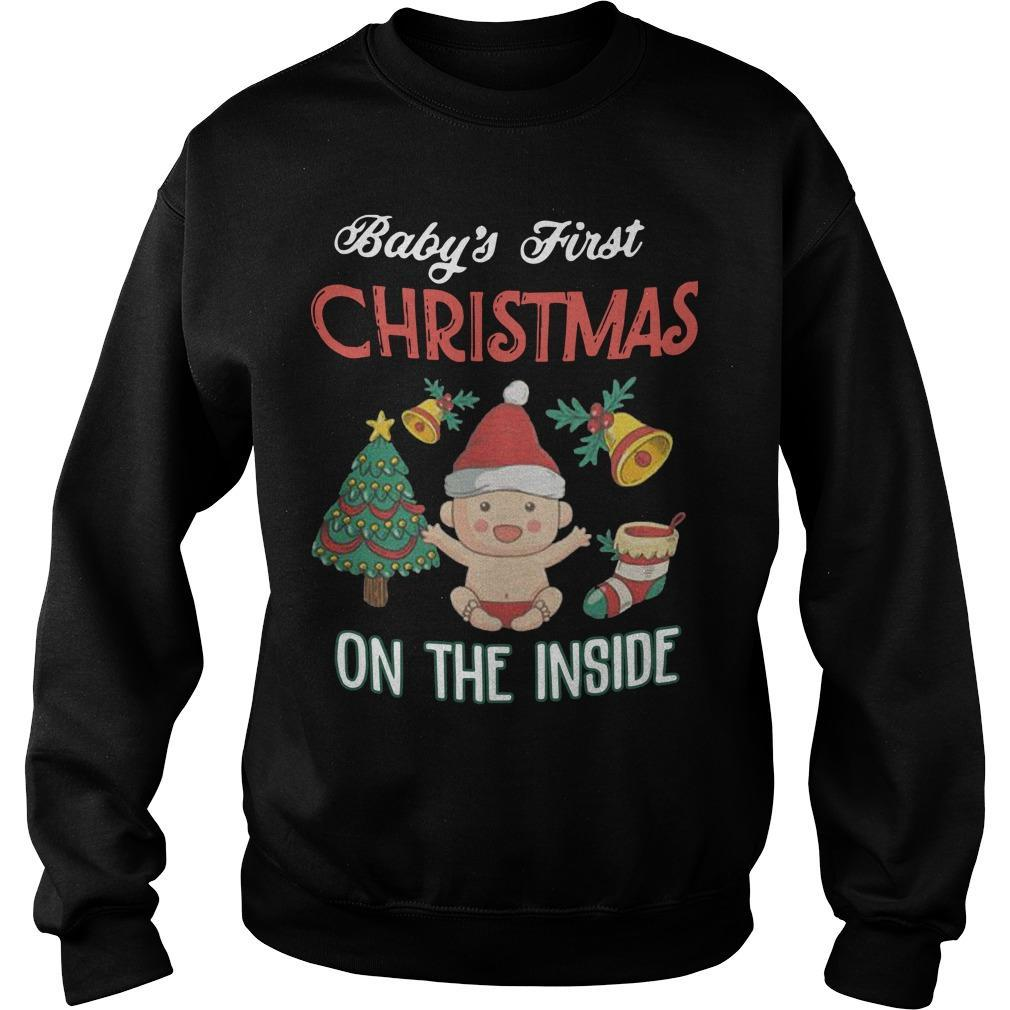 Baby's First Christmas On The Inside Sweater