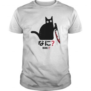 Black Cat With Knife Nani Shirt
