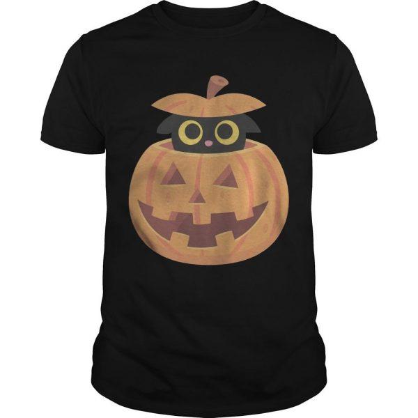 Black Kitten In The Pumpkin T Shirt