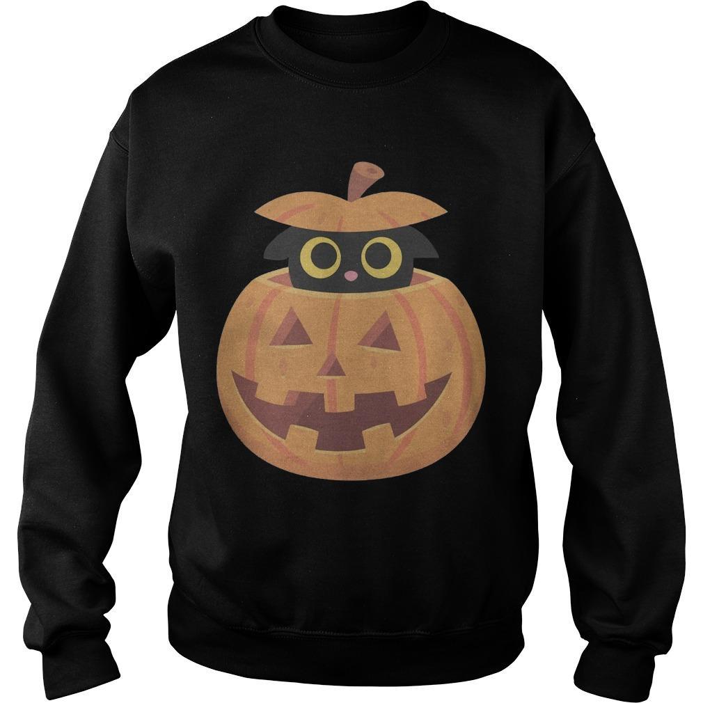 Black Kitten In The Pumpkin T Sweater