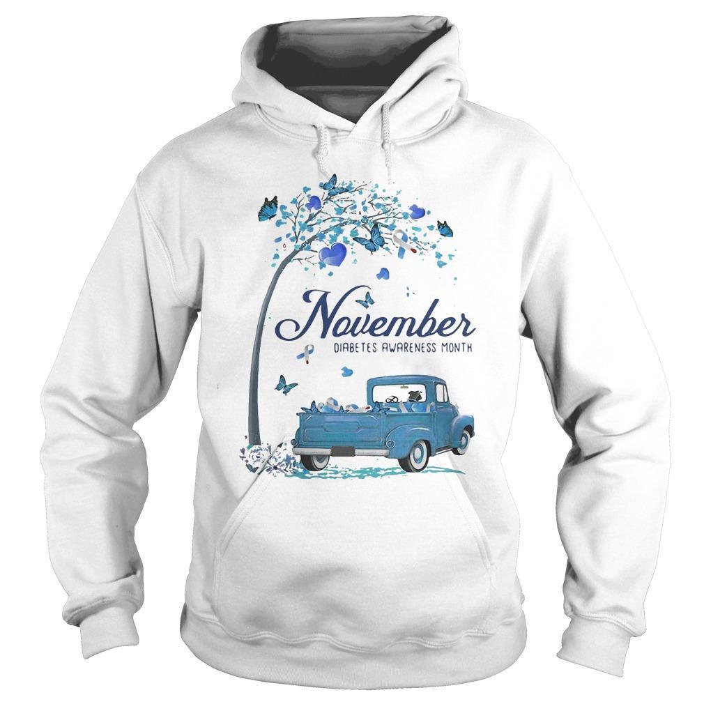 Blue Truck November Diabetes Awareness Month Hoodie