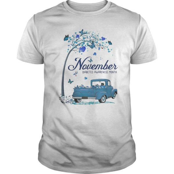 Blue Truck November Diabetes Awareness Month Shirt
