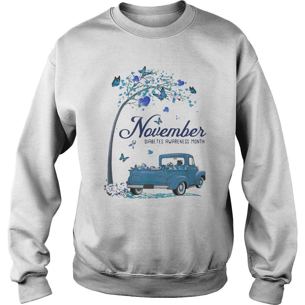 Blue Truck November Diabetes Awareness Month Sweater