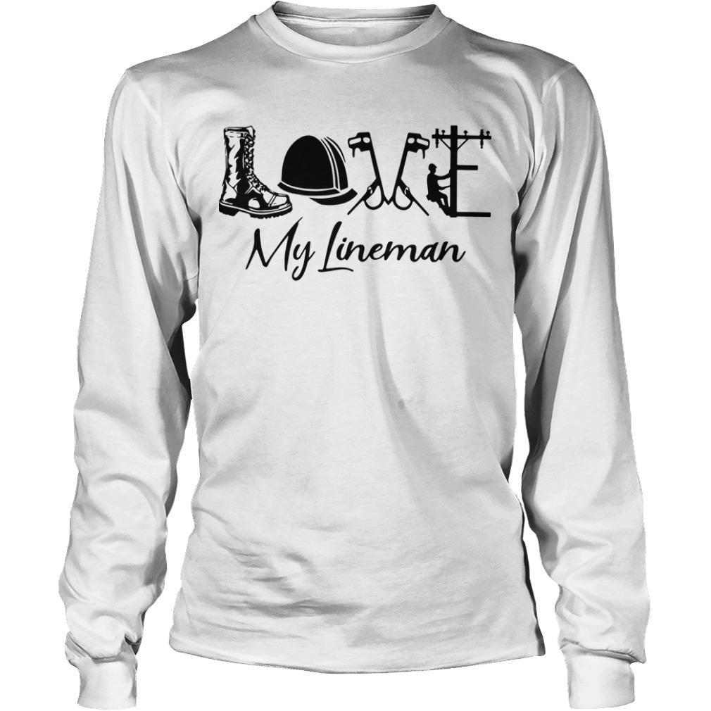 Boot Helmet Love My Lineman Longsleeve