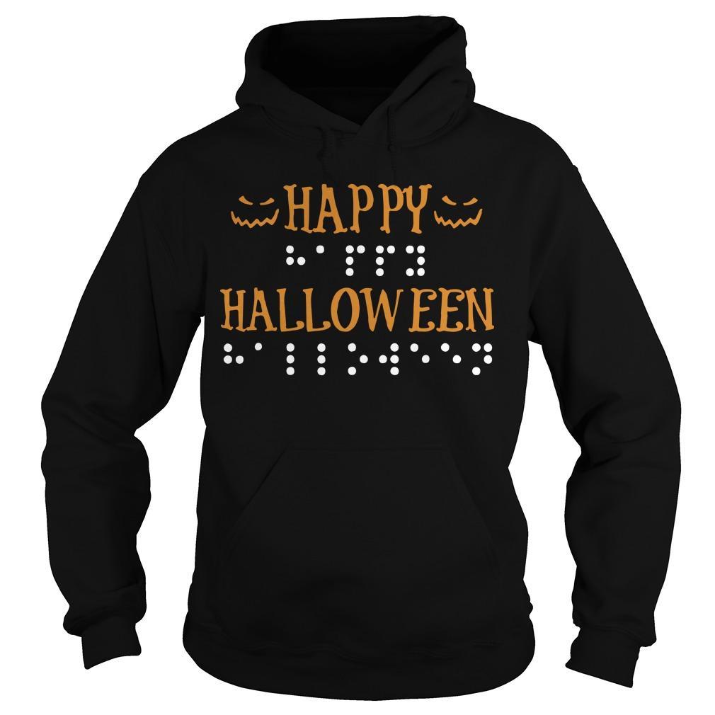Braille Dots Happy Halloween Hoodie