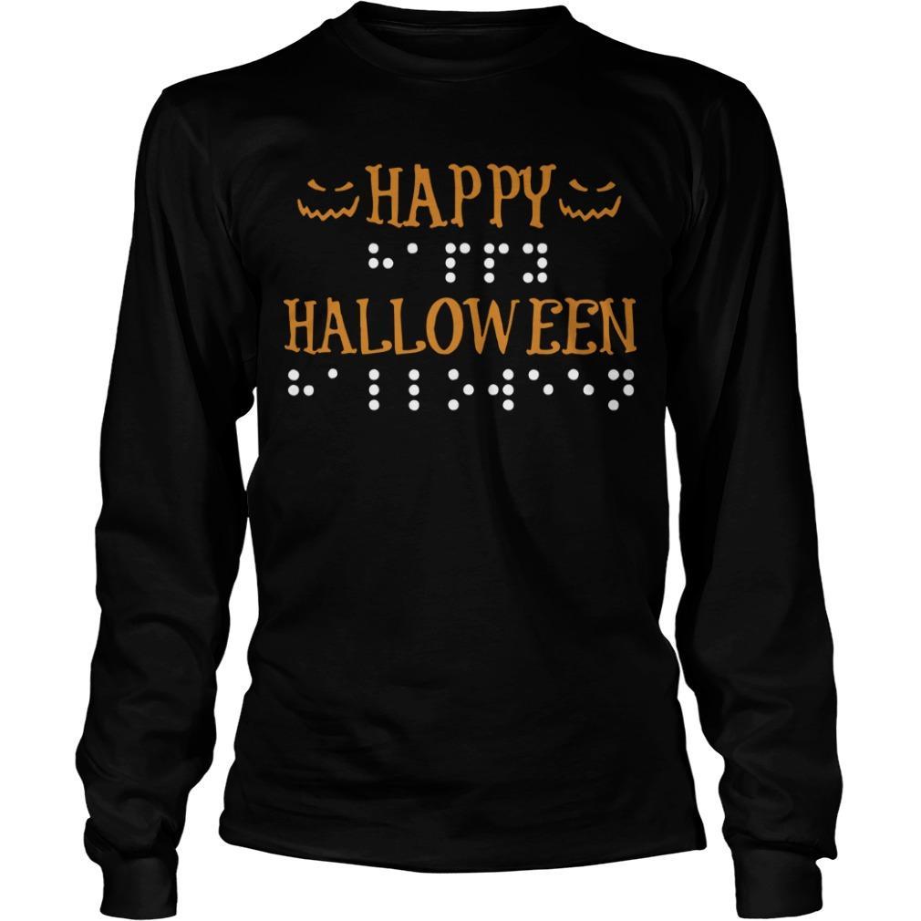 Braille Dots Happy Halloween Longsleeve