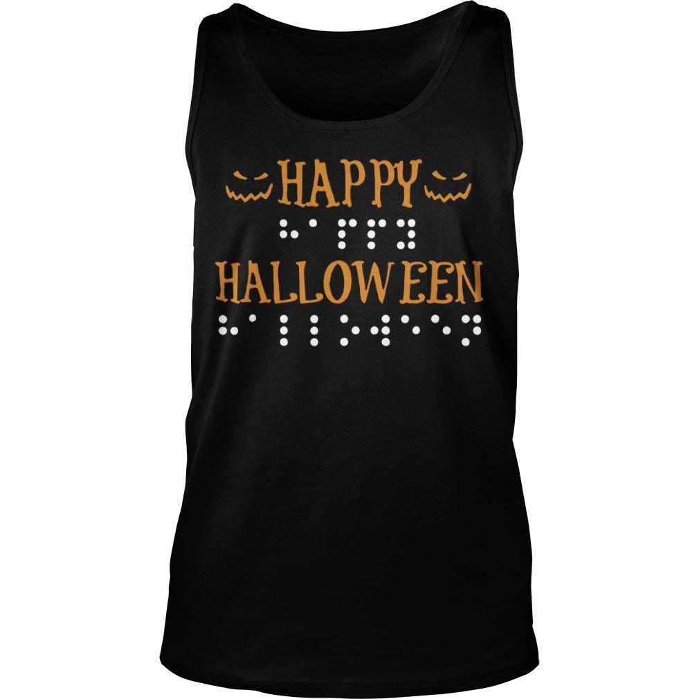 Braille Dots Happy Halloween Tank Top