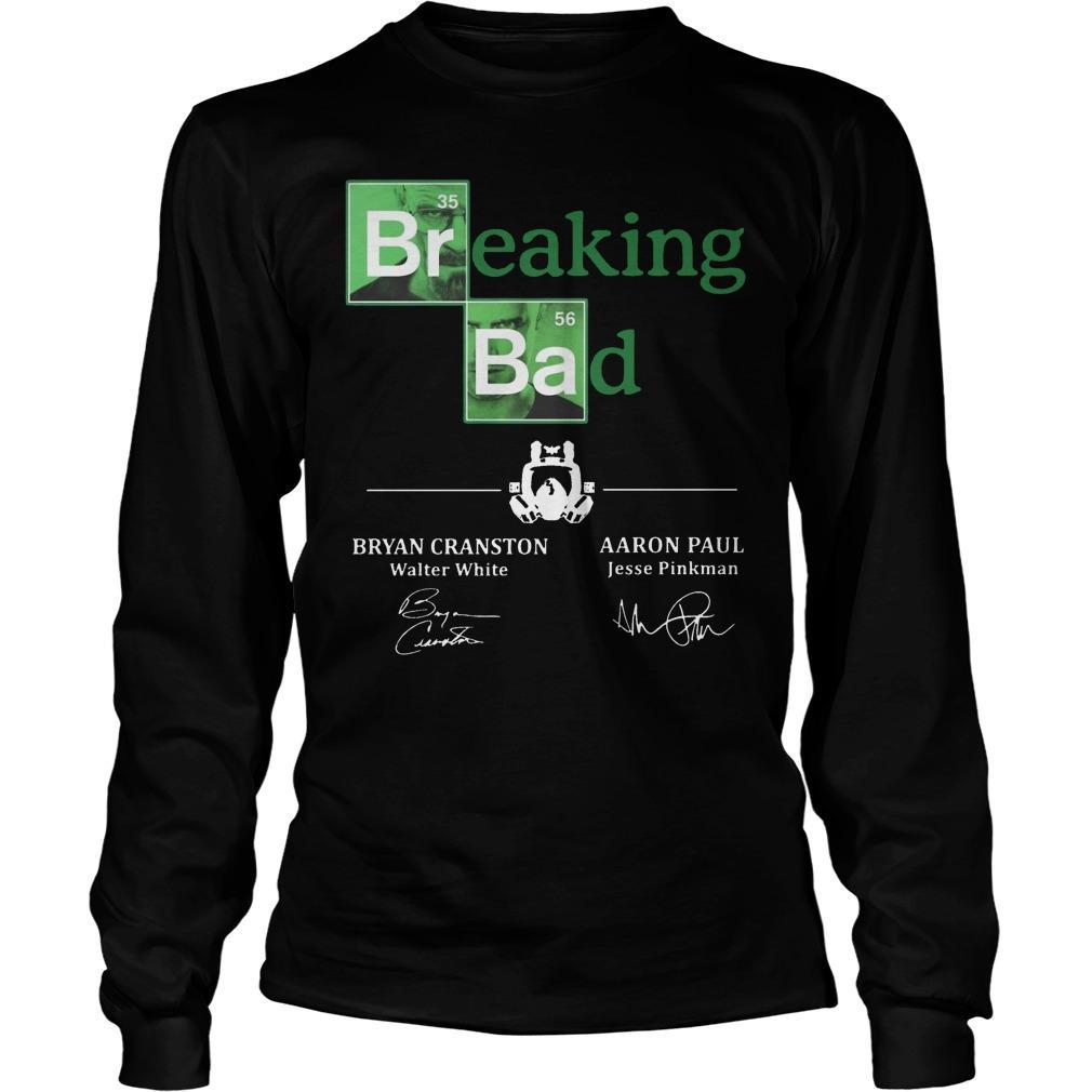 Breaking Bad Bryan Cranston Aaron Paul Signature Longsleeve