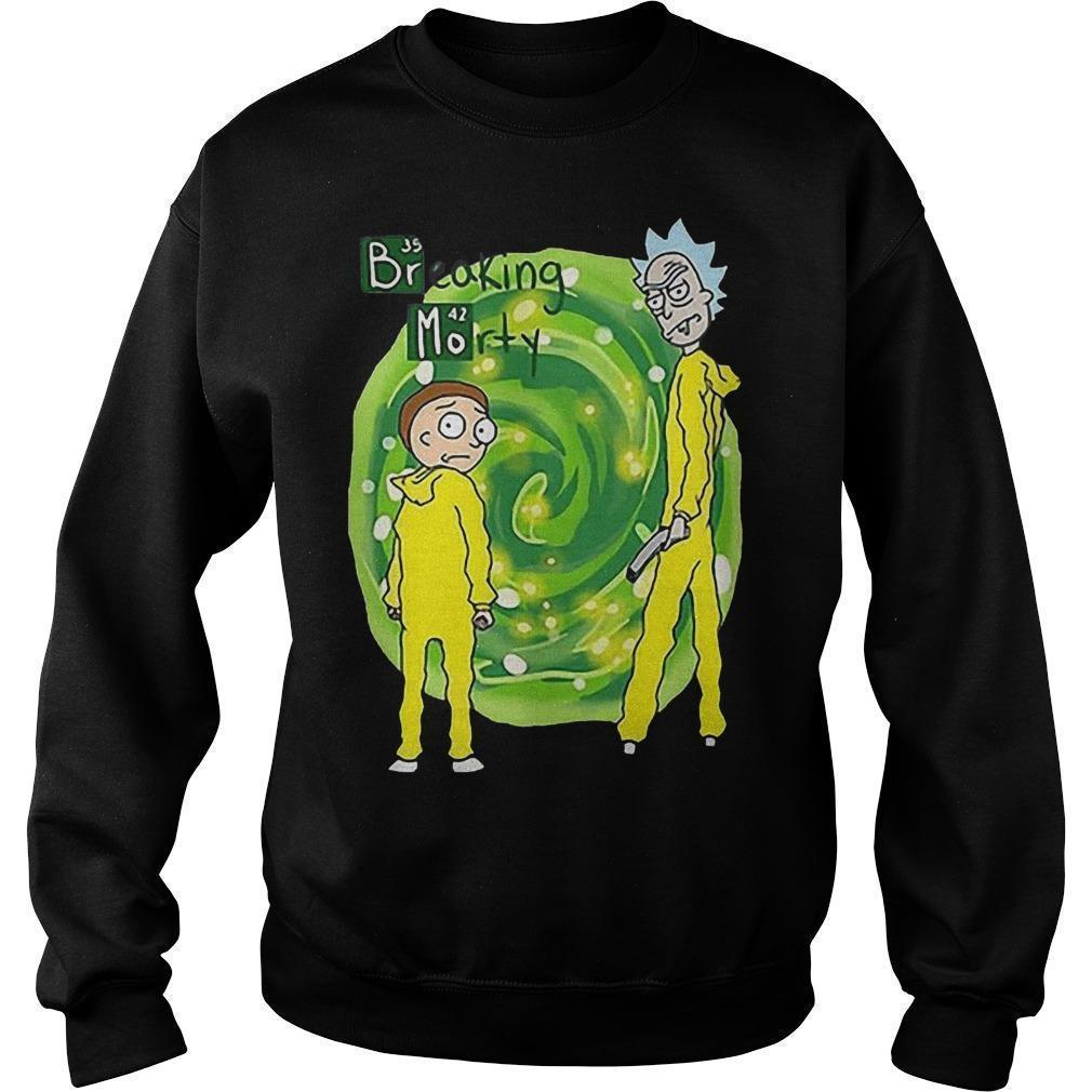 Breaking Morty Crossover Breaking Bad Rick And Morty T Sweater