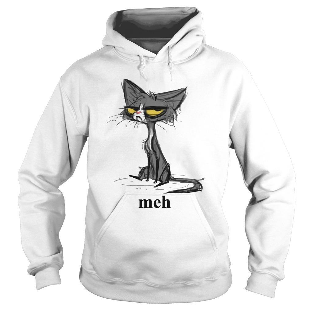 Cat Art Meh Hoodie