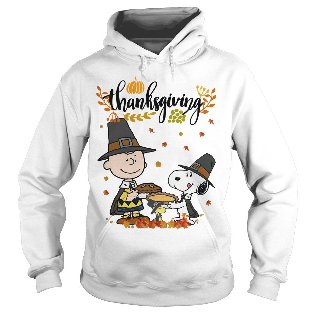 Charlie And Snoopy Happy Thanksgiving Hoodie