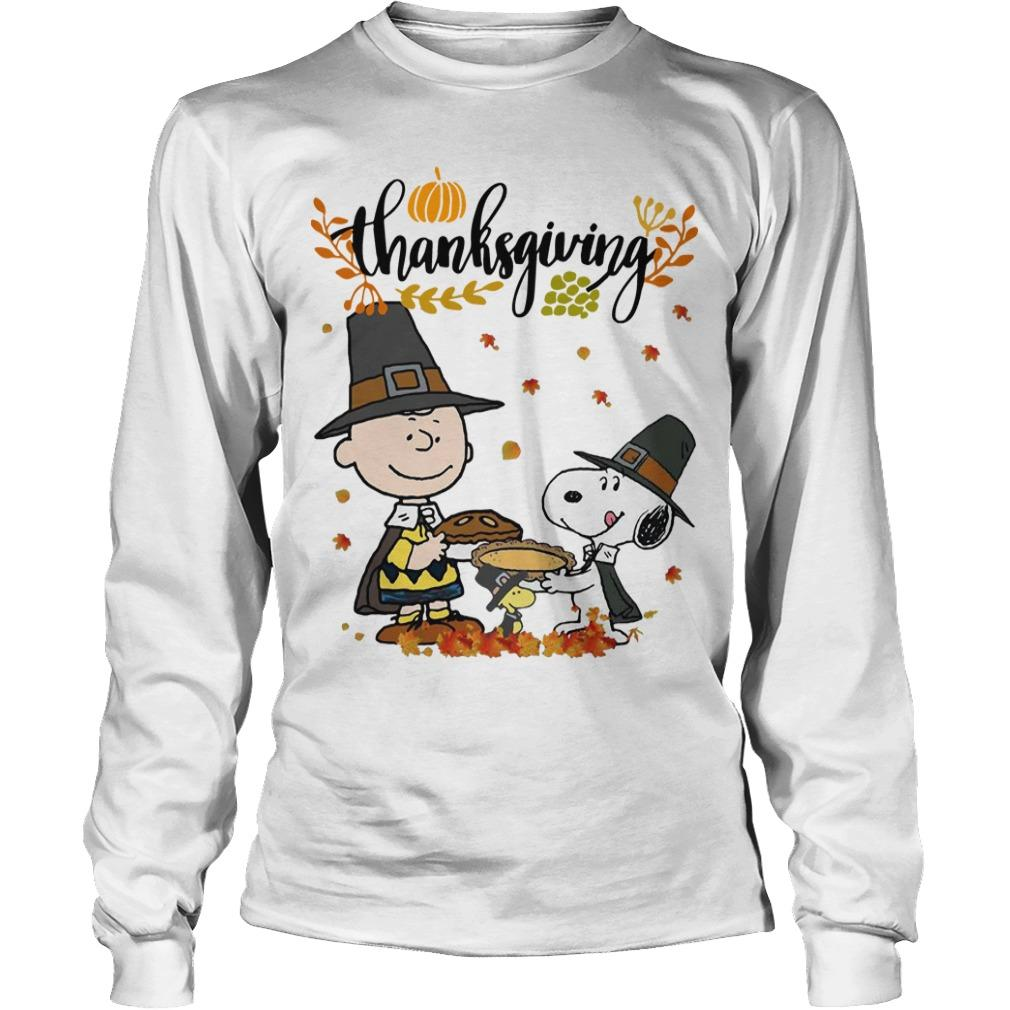 Charlie And Snoopy Happy Thanksgiving Longsleeve