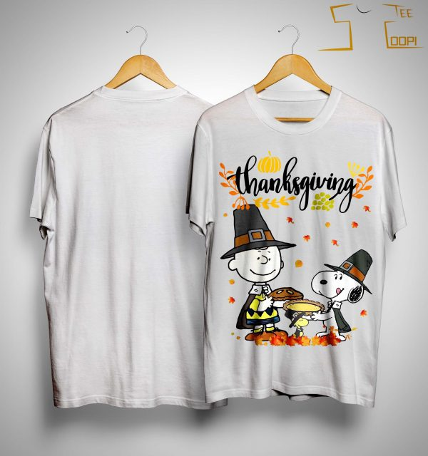Charlie And Snoopy Happy Thanksgiving Shirt