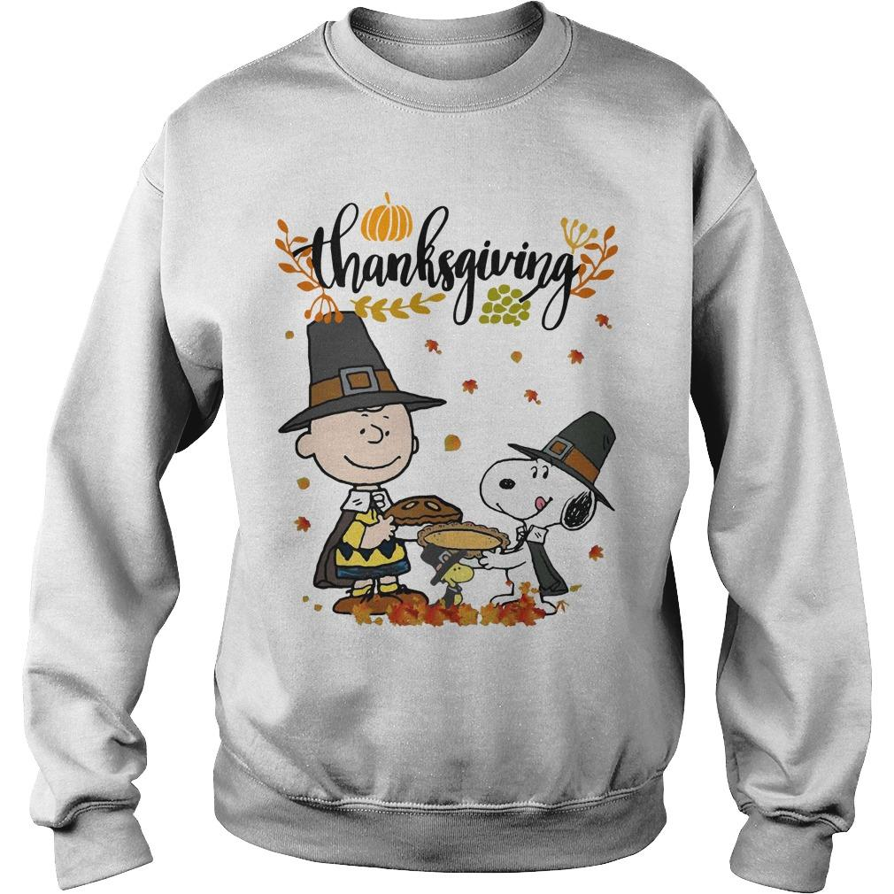 Charlie And Snoopy Happy Thanksgiving Sweater