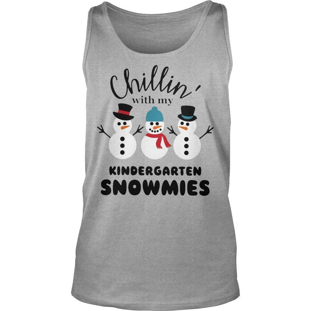 Chillin' With My Kindergarten Snowmies Tank Top