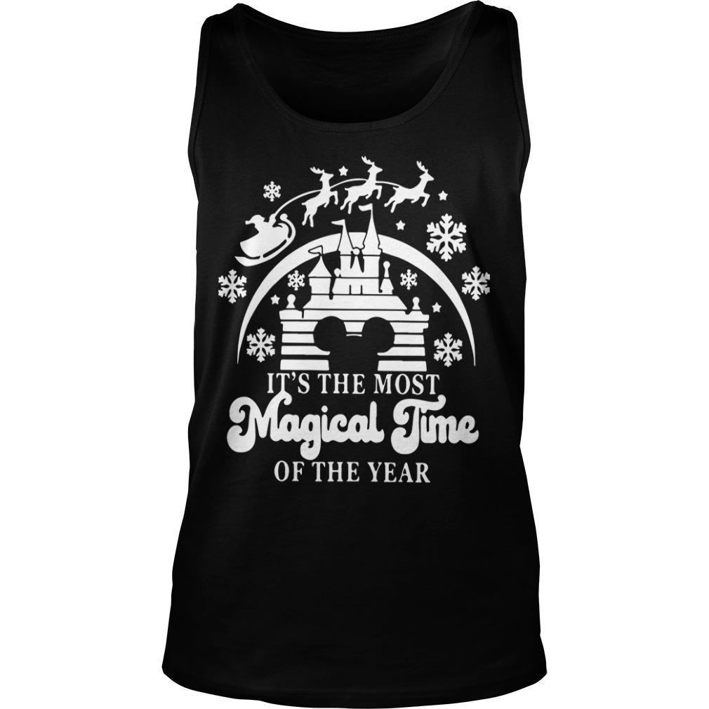 Christmas Disney It's The Most Magical Time Of The Year Tank Top