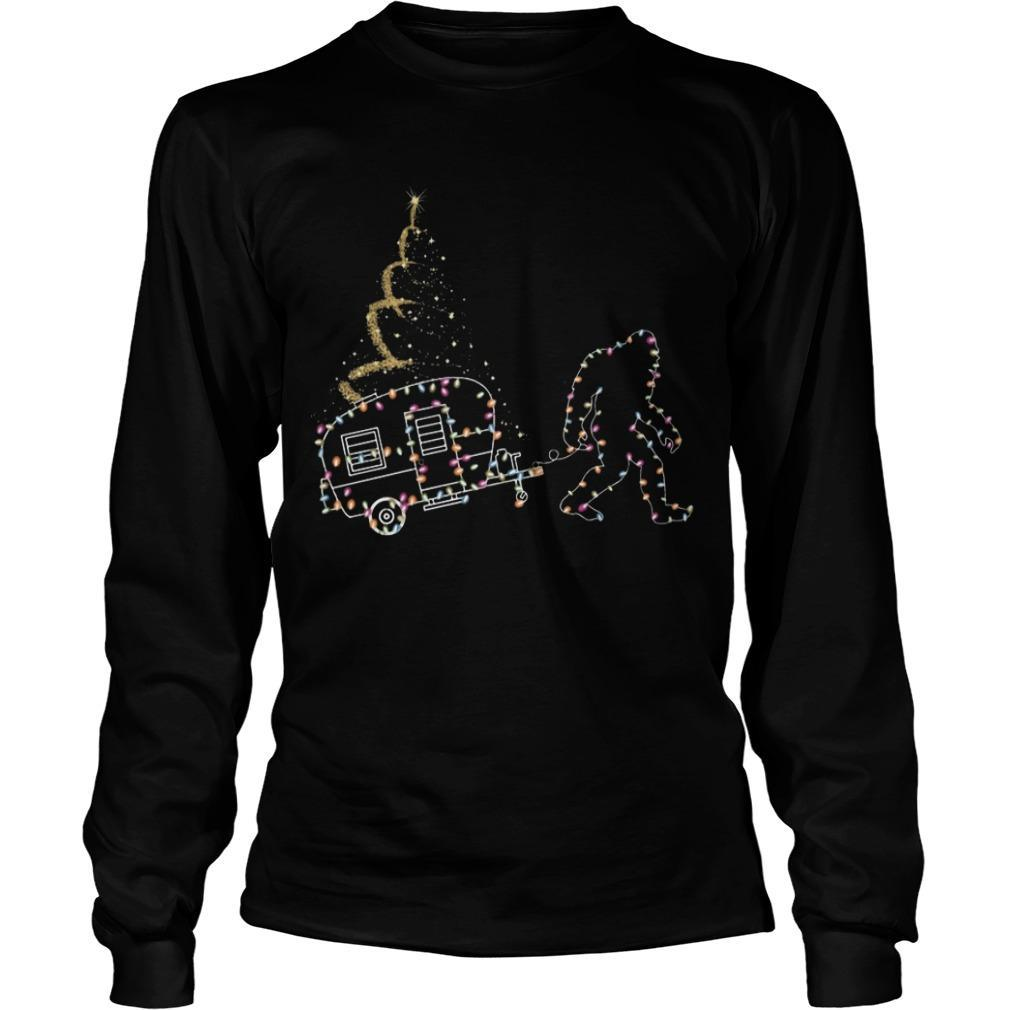 Christmas Lights Bigfoot And Camper Longsleeve