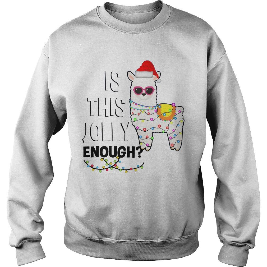 Christmas Lights Llama Is This Jolly Enough Sweater