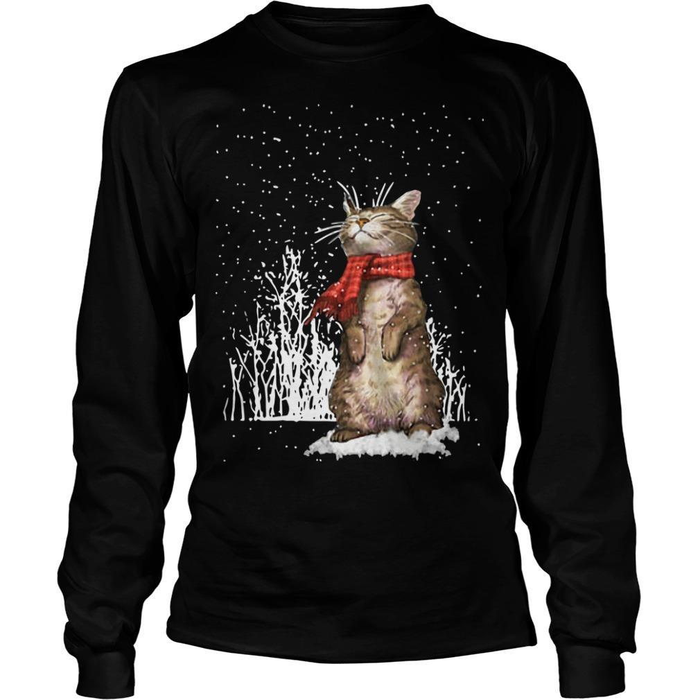Cute Cat Under Snow Longsleeve