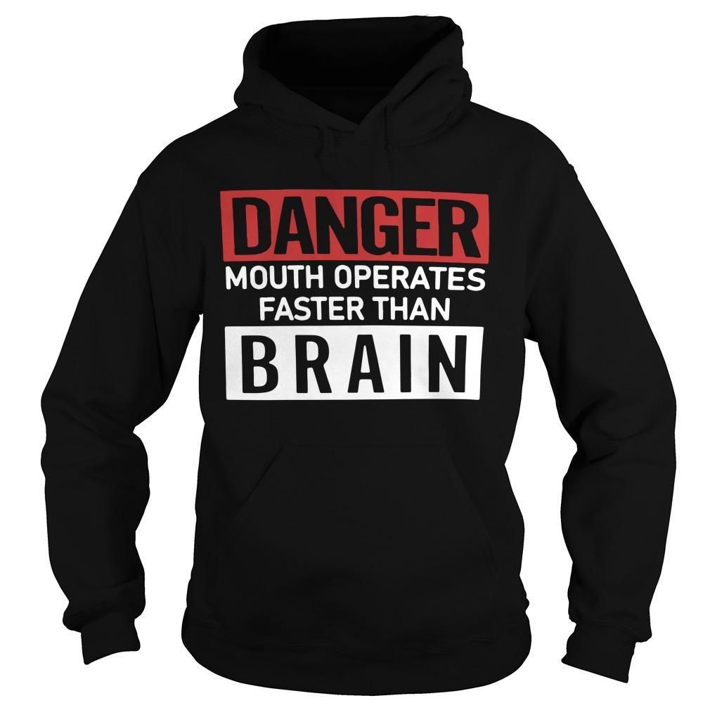 Danger Mouth Operates Faster Than Brain Hoodie