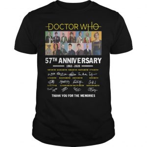 Doctor Who 57th Anniversary 1963 2020 Thank You For The Memories Signatures Shirt