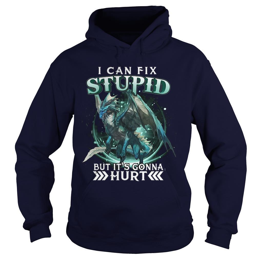 Dragon I Can Fix Stupid But It's Gonna Hurt Hoodie