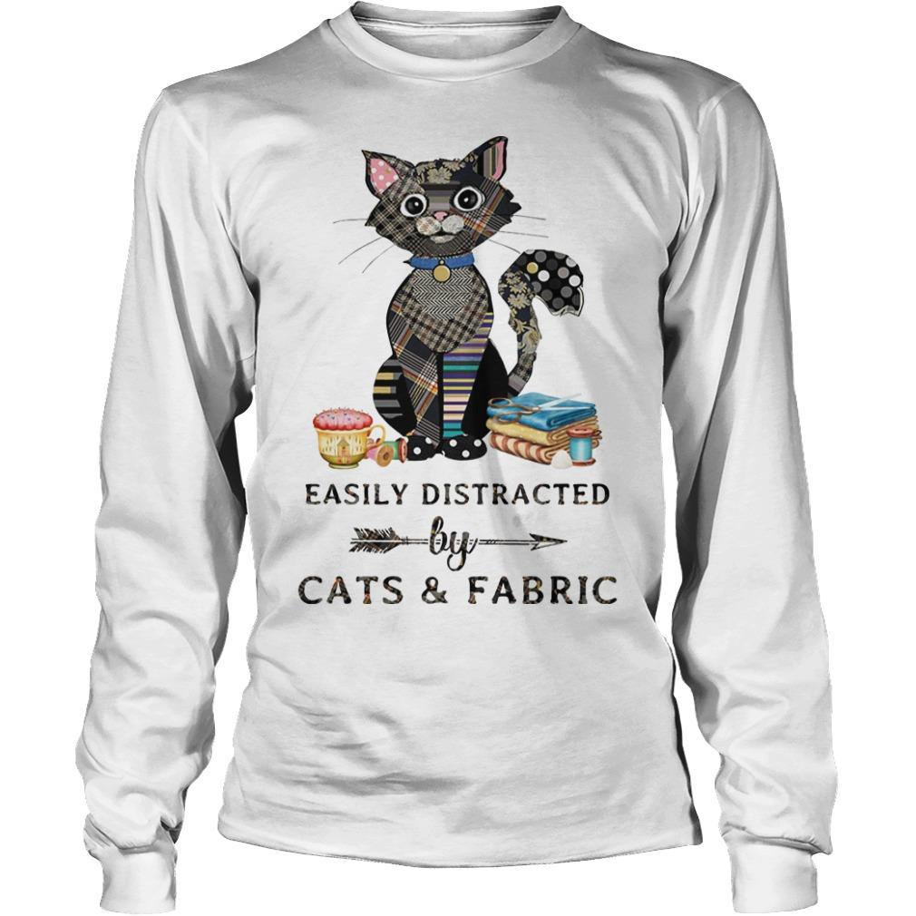 Easily Distracted By Cats And Fabric Longsleeve