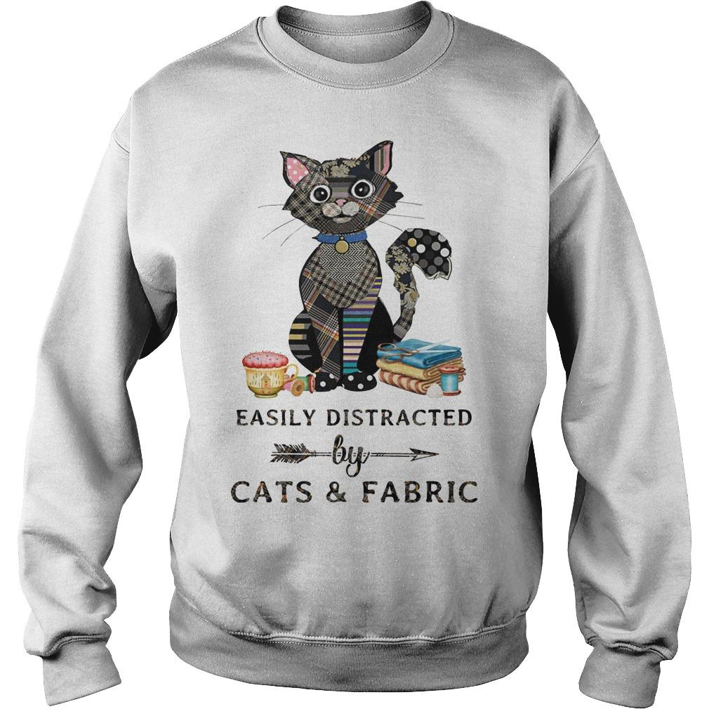 Easily Distracted By Cats And Fabric Sweater