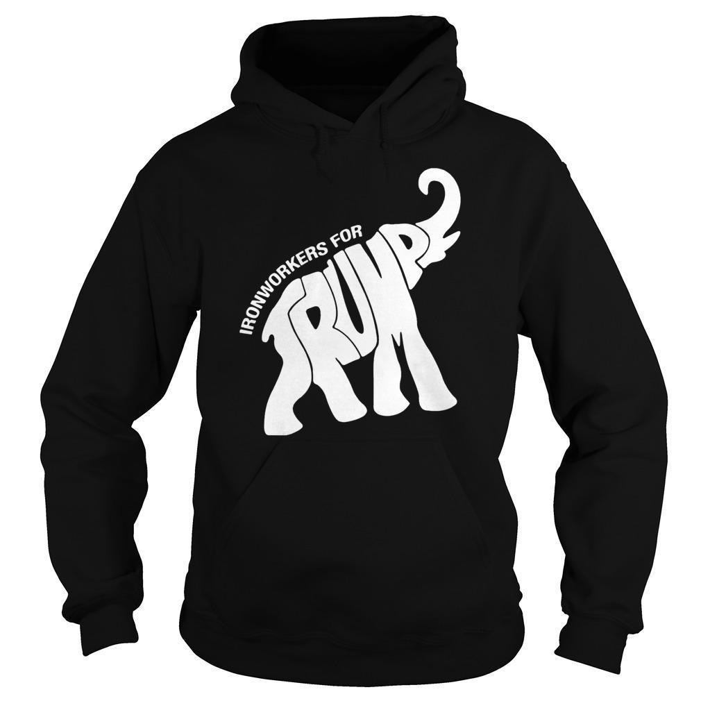 Elephant Ironworkers For Trump Hoodie