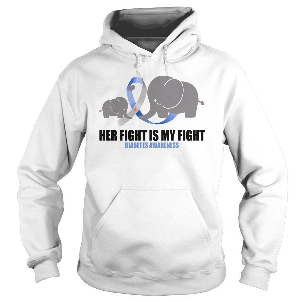 Elephants Her Fight Is My Fight Diabetes Awareness Hoodie