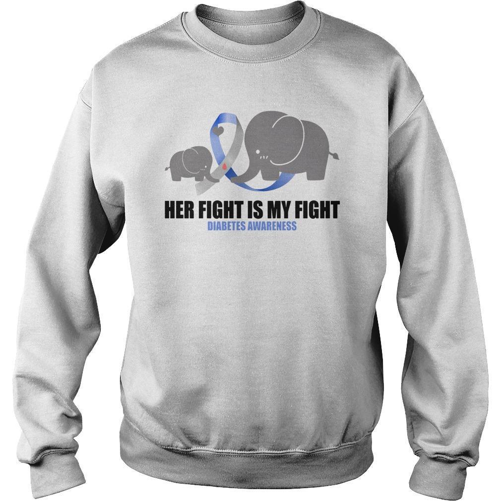Elephants Her Fight Is My Fight Diabetes Awareness Sweater
