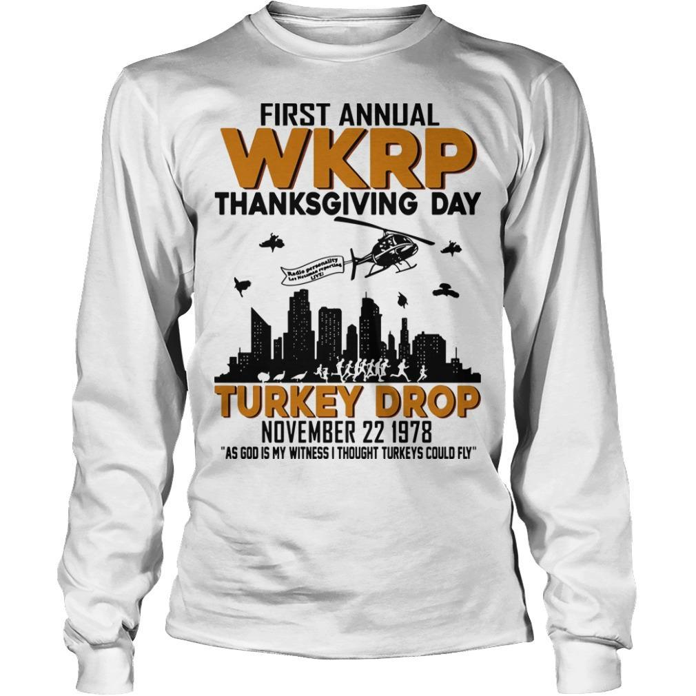 First Annual Wkrp Thanksgiving Day Turkey Drop Longsleeve
