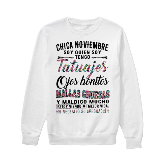 Floral Chica Noviembre Soy Quien Soy Tengo Tatuajes Ojos Gruesas Sweater