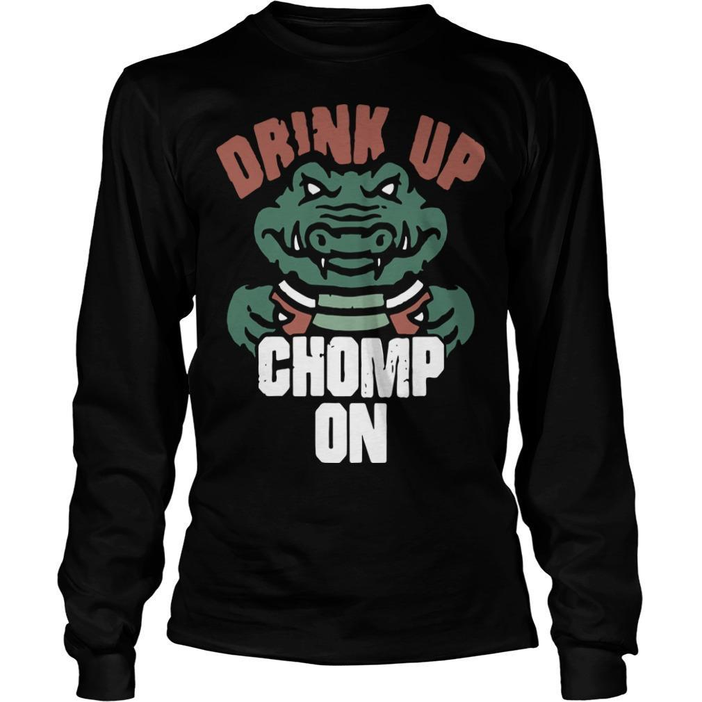 Florida Gators Fans Drink Up Chomp On Longsleeve