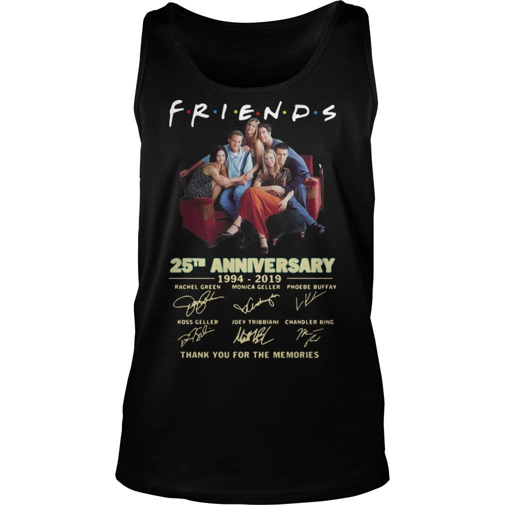 Friends Tv Show 25th Anniversary 1994 2019 Signatures Tank Top