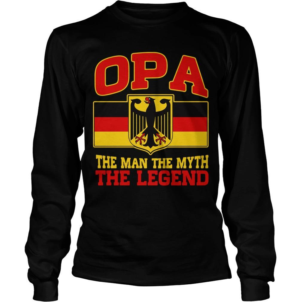 Germany Opa The Man The Myth The Legend Longsleeve