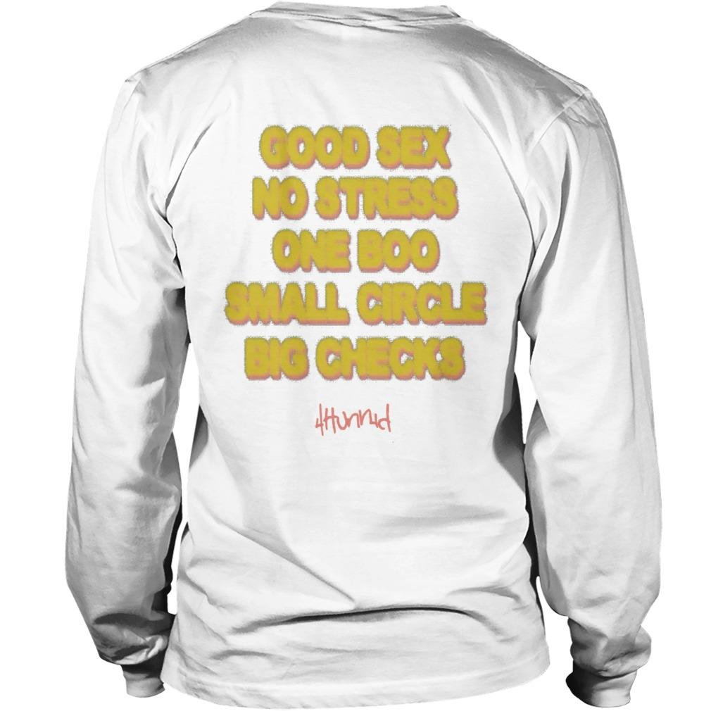 Good Sex No Stress One Boo No Ex Small Circle Big Checks Longsleeve