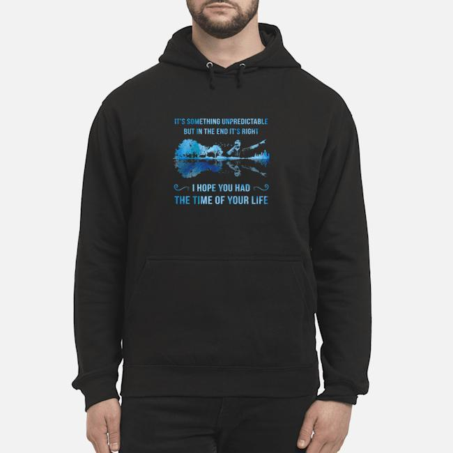 Green Day Guitar It's Something Unpredictable But In The End It's Right Hoodie