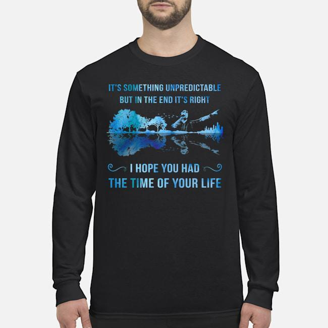 Green Day Guitar It's Something Unpredictable But In The End It's Right Longsleeve