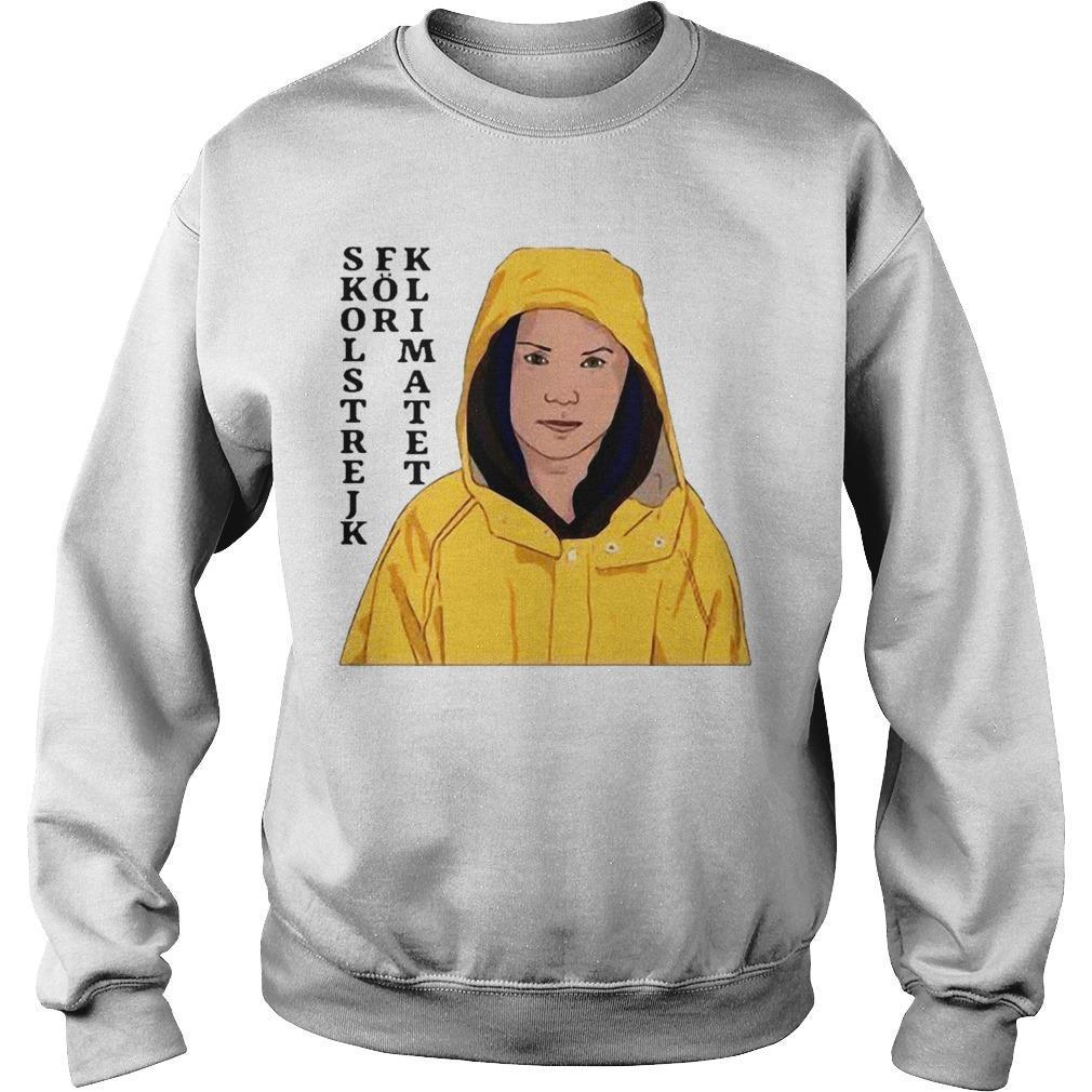 Greta Thunberg Skolstrejk For Klimatet Sweater