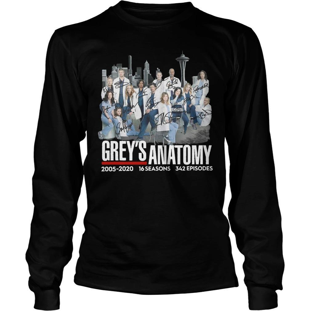 Grey's Anatomy 2005 2020 16 Seasons 342 Episodes Longsleeve