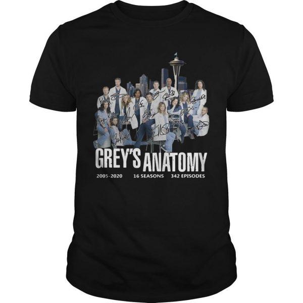 Grey's Anatomy 2005 2020 16 Seasons 342 Episodes Signature Shirt