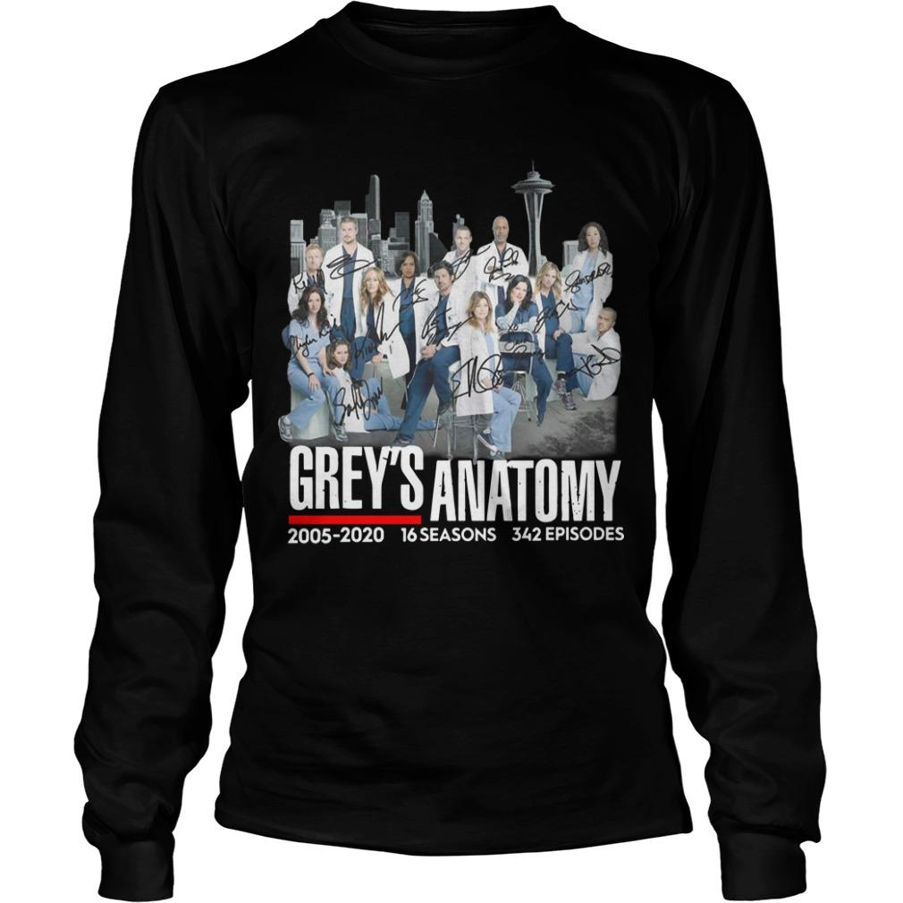 Grey's Anatomy 2005 2020 16 Seasons 342 Episodes Signatures Longsleeve