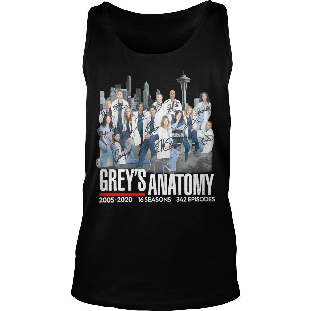 Grey's Anatomy 2005 2020 16 Seasons 342 Episodes Signatures Tank Top