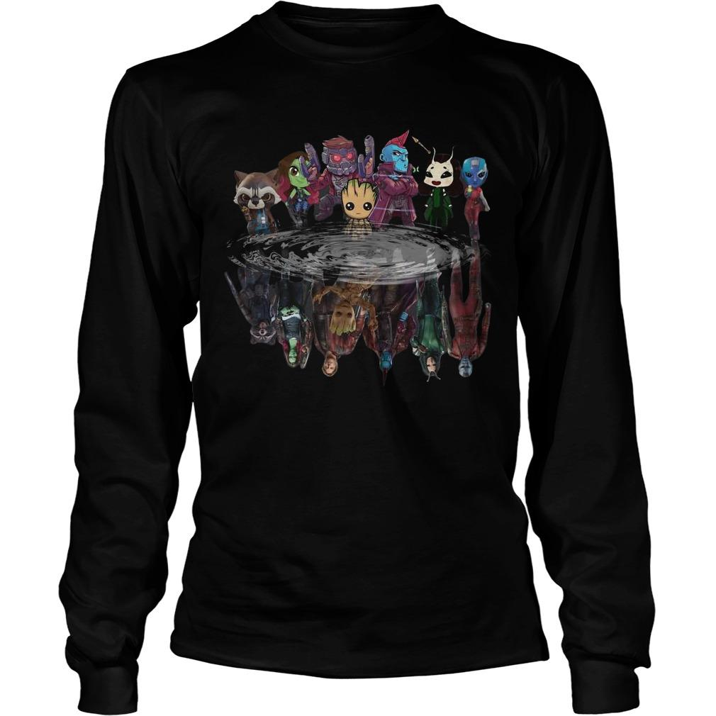 Guardians Of Galaxy Characters Water Mirror Reflection Longsleeve