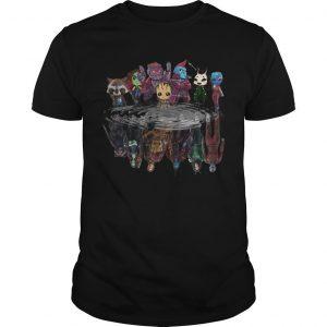 Guardians Of Galaxy Characters Water Mirror Reflection Shirt